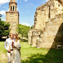 Венчание в Древней церкви Грузии в Кахетии