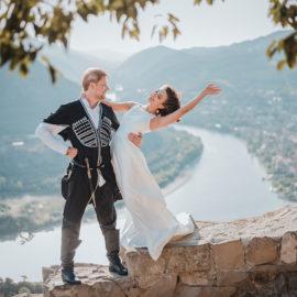 Свадьба в Грузии в Мцхета. Горы