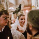 Неожиданный момент! Голубь сел на голову невесте! Хороший знак говорят, Господь благословляет.