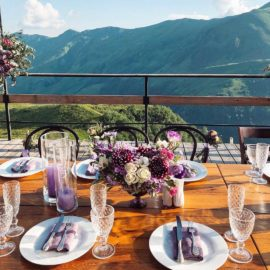 Свадьба в горах Грузии, ужин