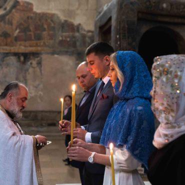 Венчание в грузинской церкви