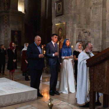Венчание в грузинской церквии