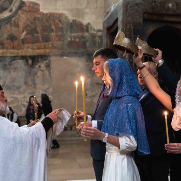 Венчание Грузия храм Светицховели
