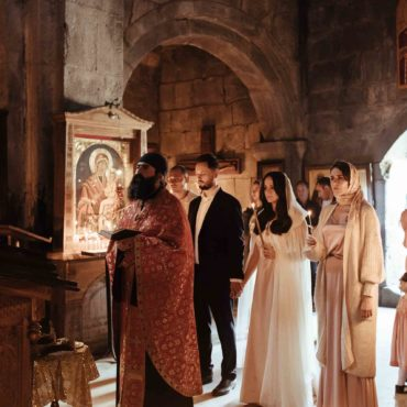 Венчание в Гергети