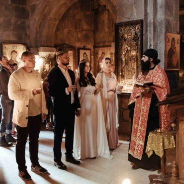 Грузинское венчание в горах