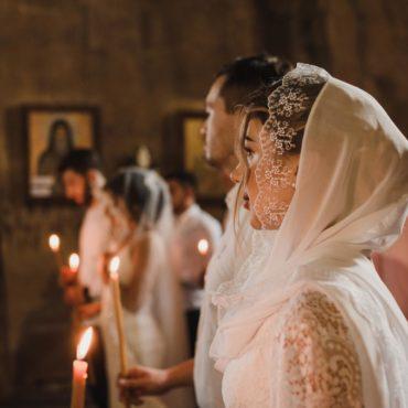 Венчание в храме Джвари, Грузия